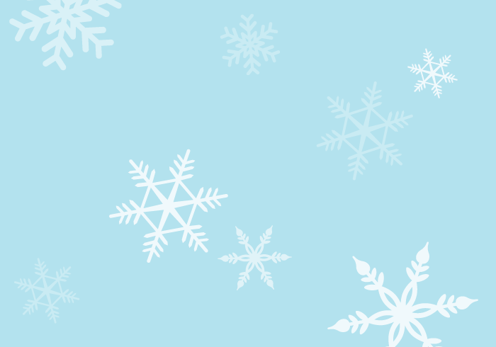 冬の風景(雪の結晶)