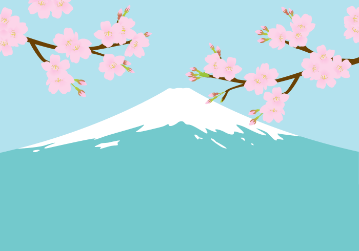 富士山とサクラ