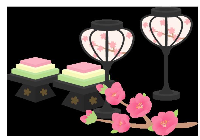 ひな祭り(ぼんぼり・菱餅)