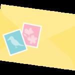 切手と封筒